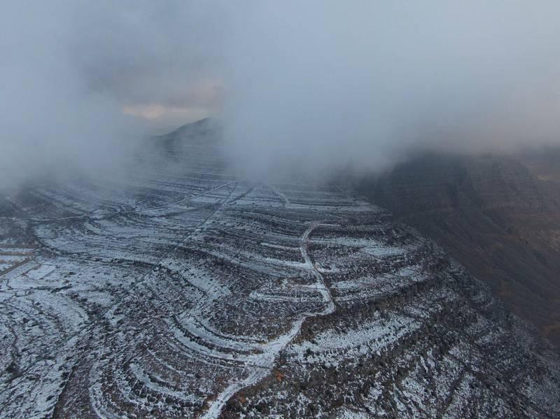 Snow in Ras Al Khaimah. Courtesy samawy_expedition