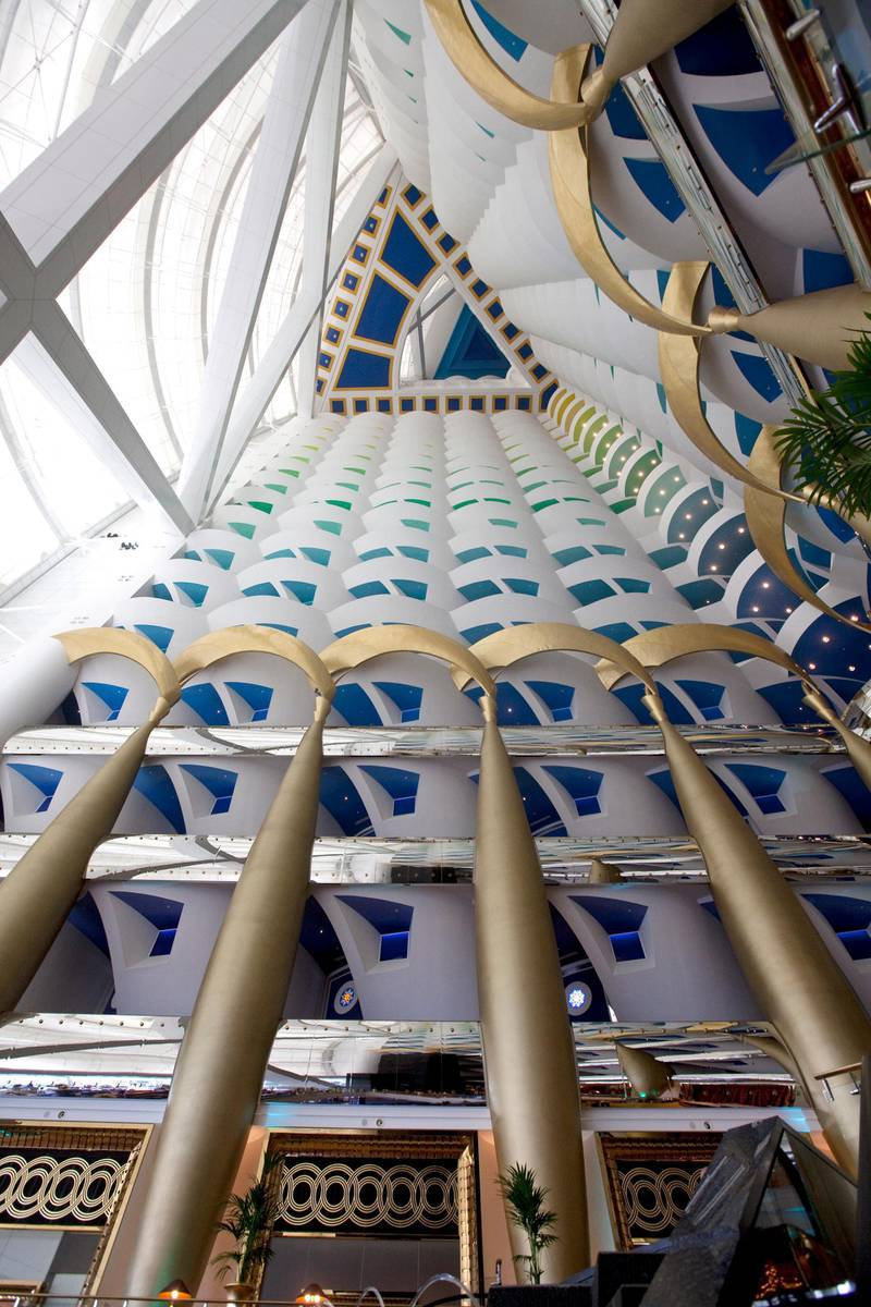 Jumeirah - May 24, 2011 - Inside the lobby at the Burj Al Arab hotel in Jumeirah, Dubai, May 24, 2011. (Photo by Jeff Topping/The National) STOCK