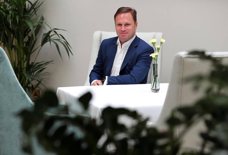 Dubai, United Arab Emirates - Reporter: David Dunn: Money and Me. Capital Club general manager, Ian Palmer. Monday, March 2nd, 2020. DIFC, Dubai. Chris Whiteoak / The National
