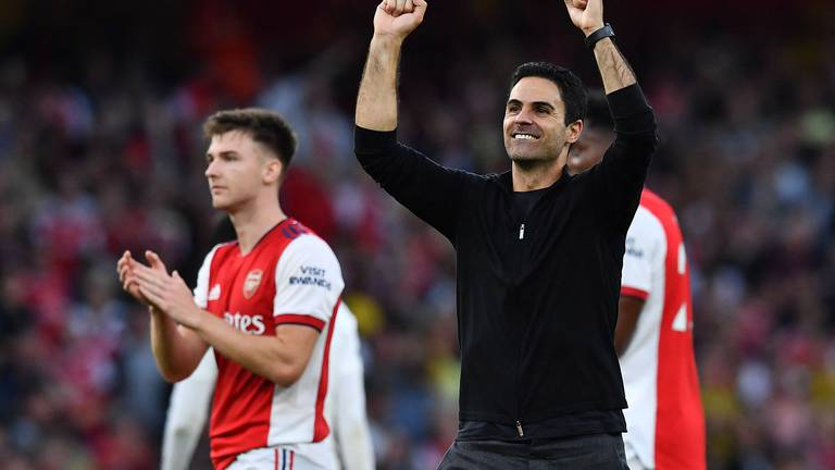 An image that illustrates this article Arteta hopes Vieira gets hero's welcome at Arsenal as Invincibles still loom large