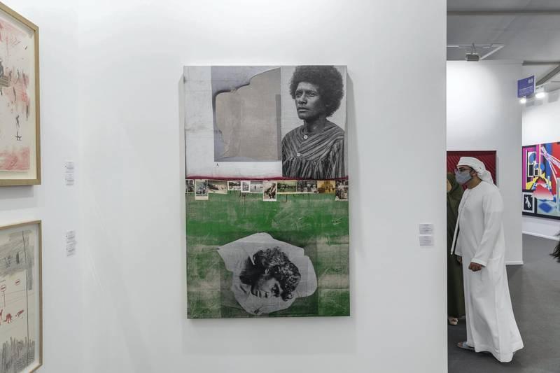 DUBAI, UNITED ARAB EMIRATES. 01 APRIL 2021. Art Dubai 2021 at DIFC. Galerie Nathalie Obadia. (Photo: Antonie Robertson/The National) Journalist: Amith Passela. Section: Sport.