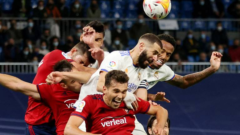 An image that illustrates this article 'Crazy' Ancelotti content as Real Madrid go top after Osasuna draw