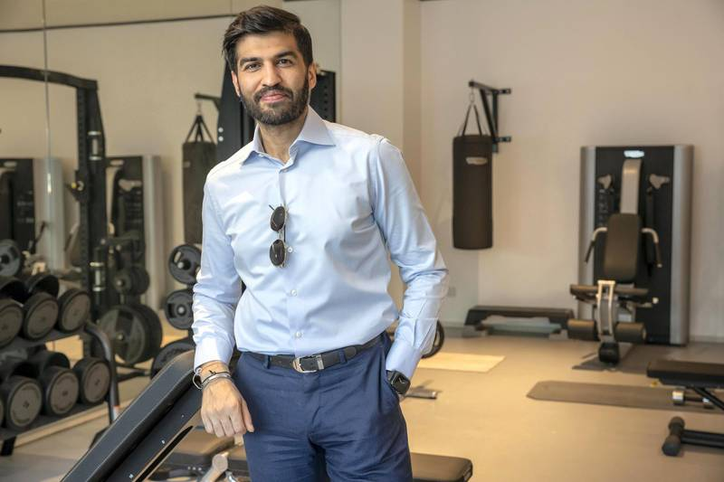 DUBAI, UNITED ARAB EMIRATES. 19 OCTOBER 2020. Interview with Rags Arora at his home gym in Dubai. (Photo: Antonie Robertson/The National) Journalist: David Section: Luxury.
