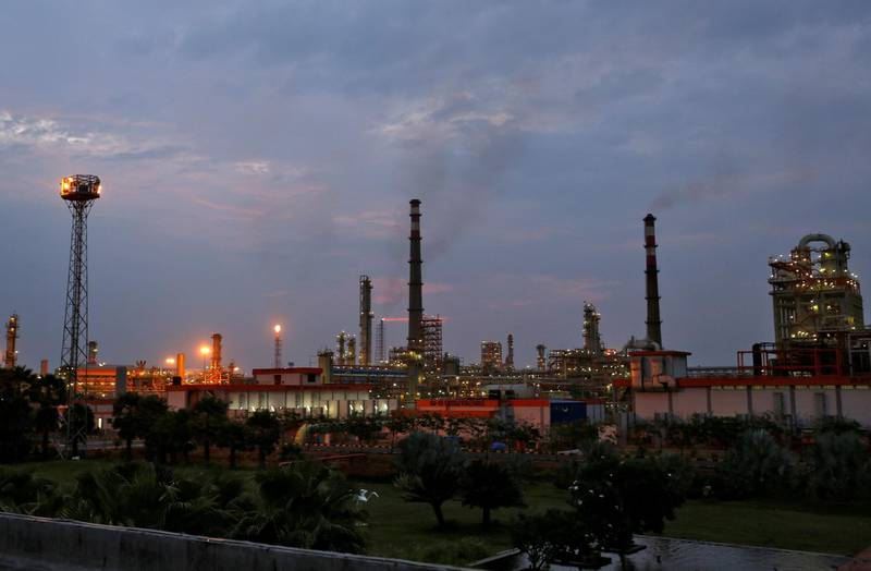 FILE PHOTO: An oil refinery of Essar Oil , which runs India's second biggest private sector refinery, is pictured in Vadinar in the western state of Gujarat, India, October 4, 2016. REUTERS/Amit Dave/File Photo