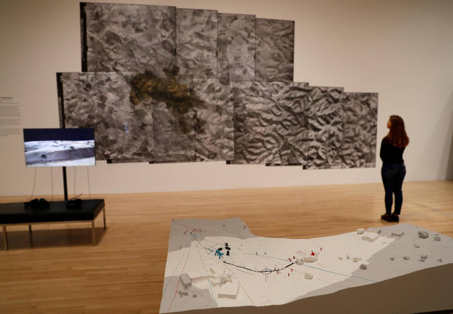 Shortlisted Turner Prize 2018 entry by Forensic Architecture, shows their investigations of Bedouin communities in southern Israel and is displayed at Tate Britain, in London, Britain, September 24, 2018. REUTERS/Peter Nicholls