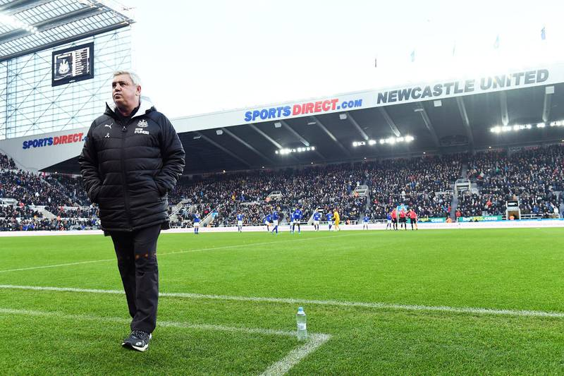 NEWCASTLE UPON TYNE, ENGLAND - JANUARY 01: Steve Bruce, Manager of Newcastle United looks on during the Premier League match between Newcastle United and Leicester City at St. James Park on January 01, 2020 in Newcastle upon Tyne, United Kingdom. (Photo by Mark Runnacles/Getty Images)