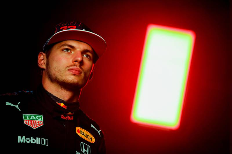 NORTHAMPTON, ENGLAND - FEBRUARY 24: Max Verstappen of Netherlands and Red Bull Racing poses for a photo during the Red Bull Racing Filming Day at Silverstone on February 24, 2021 in Northampton, England. (Photo by Mark Thompson/Getty Images for Red Bull Racing)