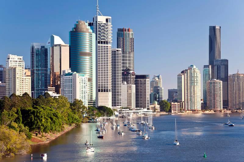 Australia, Queensland, Brisbane, Central Business District skyline
