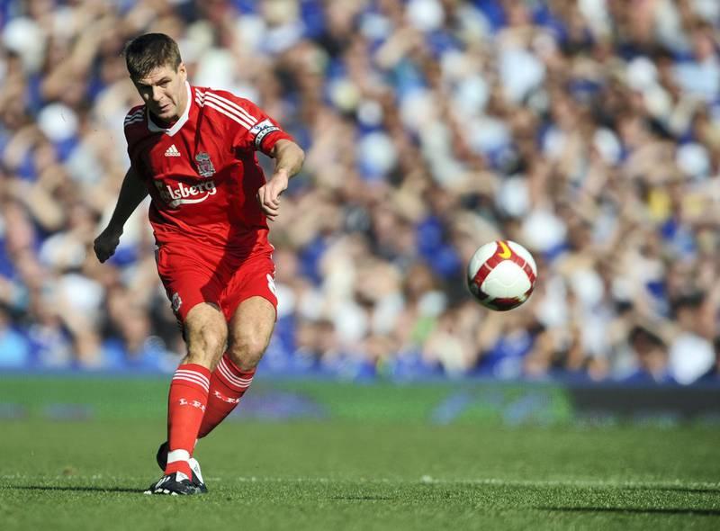 Steven Gerrard of Liverpool. (Photo by AMA/Corbis via Getty Images)