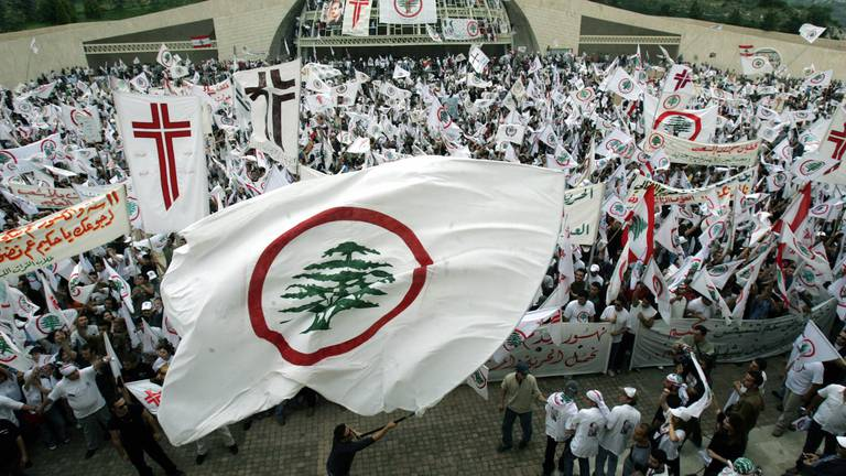 An image that illustrates this article Hezbollah's Nasrallah accuses Lebanese Forces of trying to stoke civil war