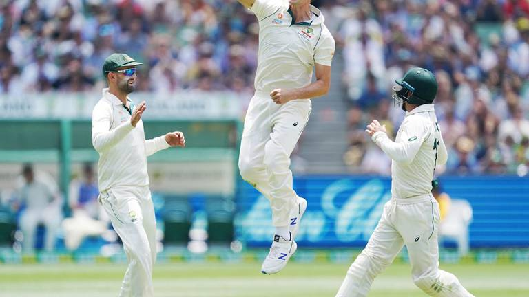 An image that illustrates this article Australia pace attack destroys New Zealand in Melbourne