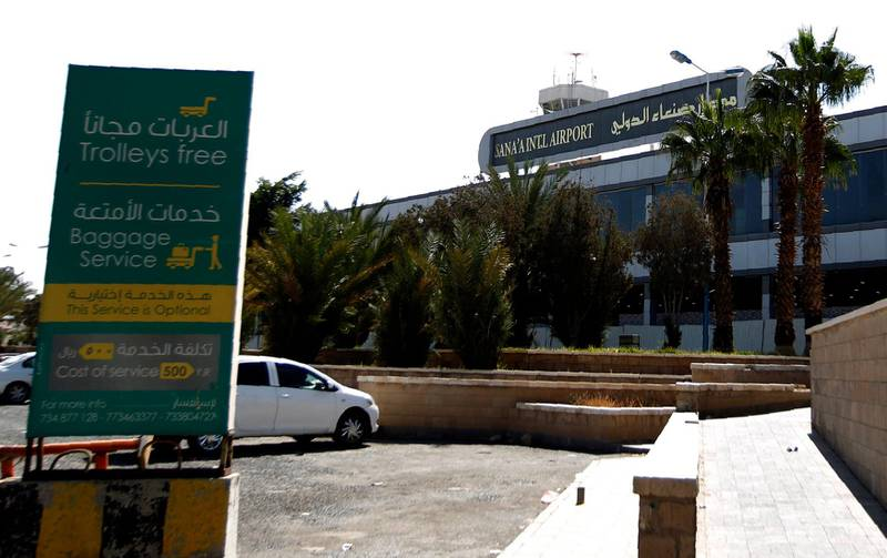 A general view taken in October 25, 2016 shows Sanaa International Airport in the Yemeni capital. Sanaa international airport was shut when the Saudi-led coalition resumed air strikes on August 9 around the city after the last round of peace talks in Kuwait collapsed. It reopened days later, but only for humanitarian flights which have to notify the coalition in advance.     / AFP PHOTO / MOHAMMED HUWAIS