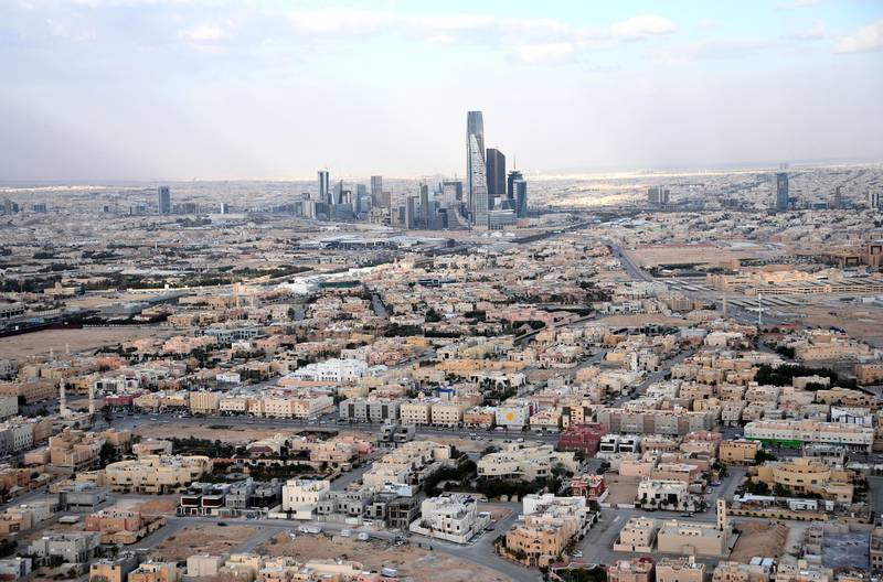 This picture taken on January 11, 2020, shows a general view of Riyadh. (Photo by FRANCK FIFE / AFP)