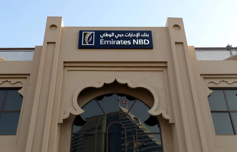 Dubai, United Arab Emirates - February 8th, 2018: General Views of Emirates NBD. Thursday, February 8th, 2018. Jumeirah Beach Road, Dubai. Chris Whiteoak / The National