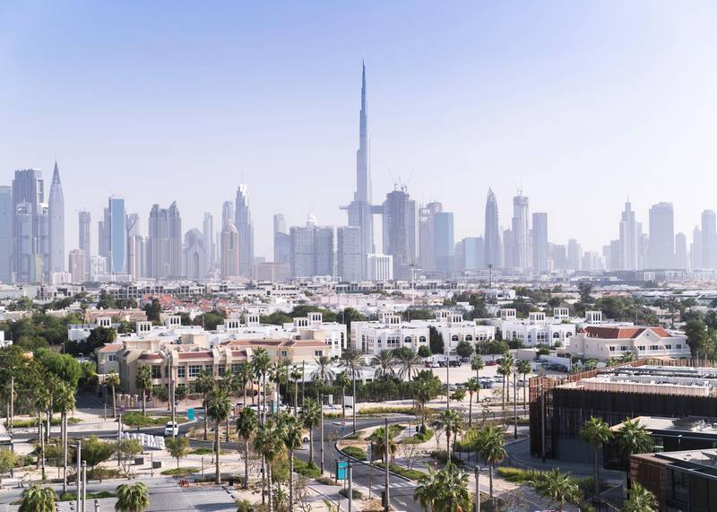 DUBAI, UNITED ARAB EMIRATES. 16 DECEMBER 2020. Dubai city view from the newly opened Rove La Mer hotel.(Photo: Reem Mohammed/The National)Reporter:Section: