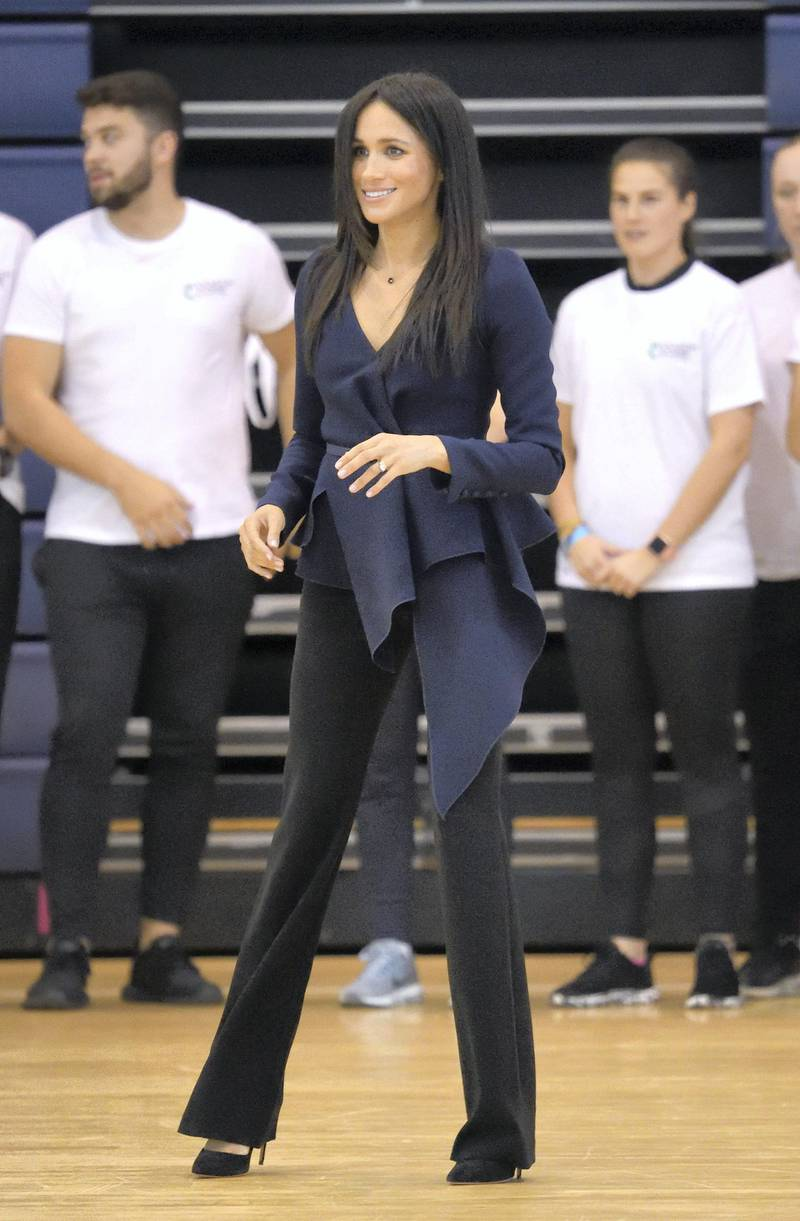 LOUGHBOROUGH, ENGLAND - SEPTEMBER 24:  Meghan, Duchess of Sussex attends the Coach Core Awards held at Loughborough University on September 24, 2018 in Loughborough, England.  (Photo by Karwai Tang/WireImage)