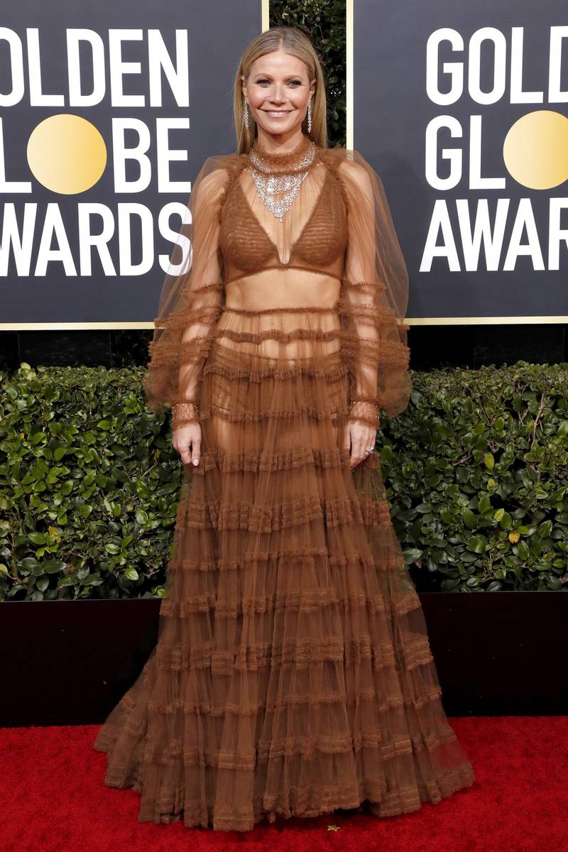epa08106148 Gwyneth Paltrow arrives for the 77th annual Golden Globe Awards ceremony at the Beverly Hilton Hotel, in Beverly Hills, California, USA, 05 January 2020.  EPA-EFE/NINA PROMMER