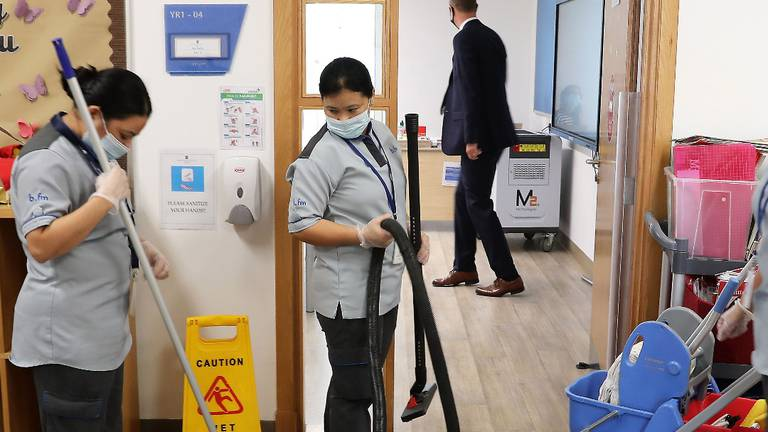 An image that illustrates this article Deep-cleaning, thermal cameras and warning stickers as UAE schools gear up for new academic year