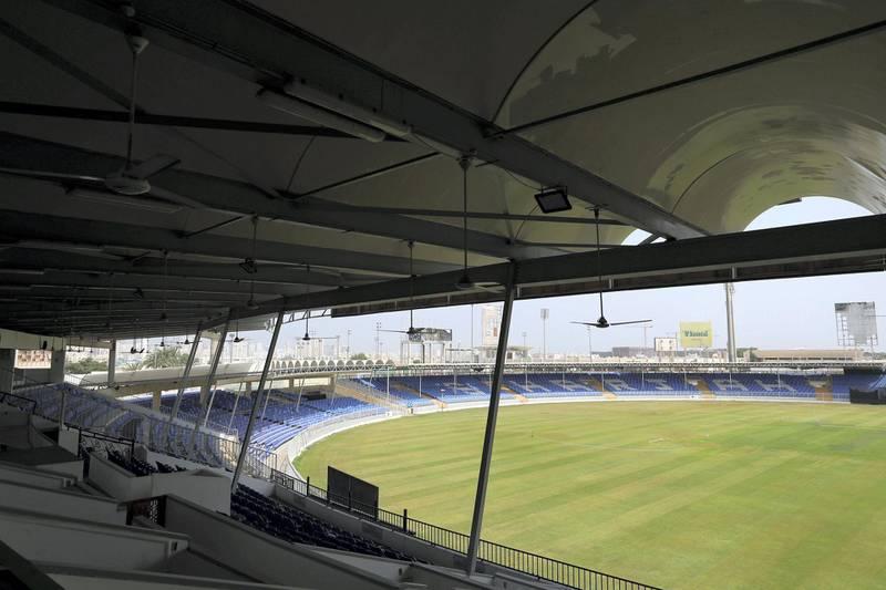 Sharjah, United Arab Emirates - Reporter: N/A. Sport. General view of Sharjah cricket stadium. Wednesday, June 24th, 2020. Sharjah. Chris Whiteoak / The National