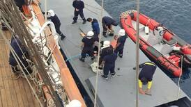 Ecuador Navy sailing ship catches drug smuggling 'narco sub'