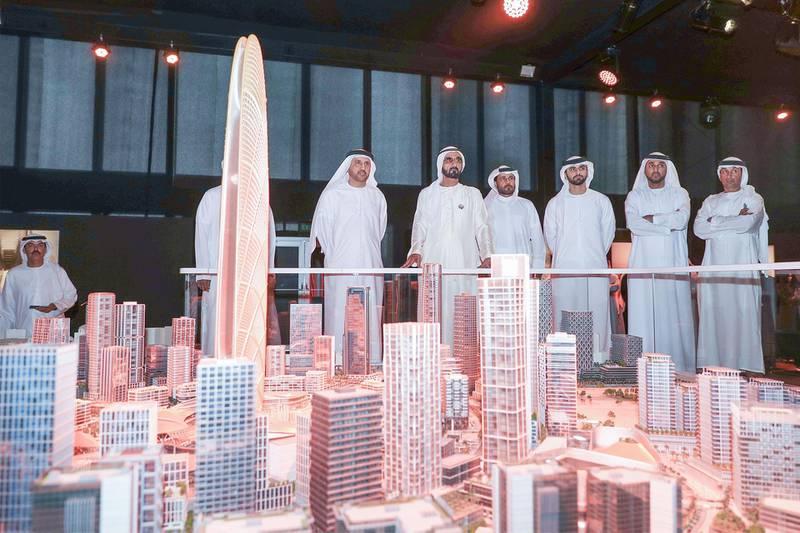 Sheikh Mohammed bin Rashid Al Maktoum, Vice President and Prime Minister of the UAE and Ruler of Dubai, inaugurated Burj Jumeira, the new tower set to be built in the Al Sufouh neighbourhood of Dubai, on January 31, 2019. Wam