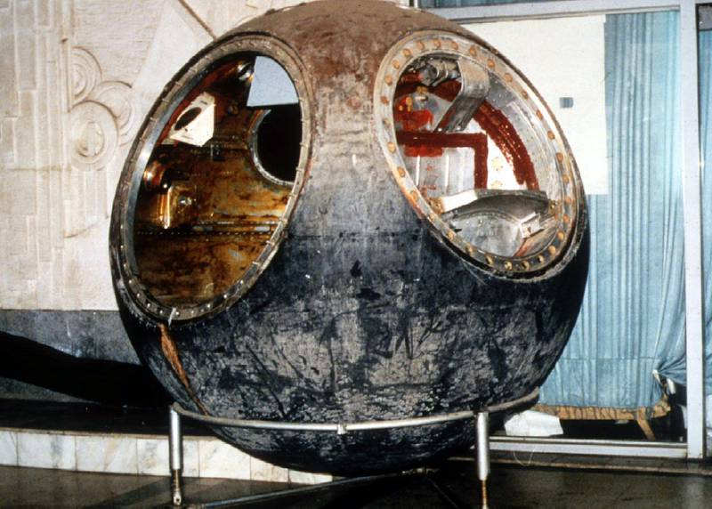 This Vostok 3KA-2 Russian space capsule, which was sent into space March 23, 1961, will be sold at Sotheby's auction house in New York March 16. The capsule is expected to fetch as much as $1 million in the wide-ranging sale of Russian space items