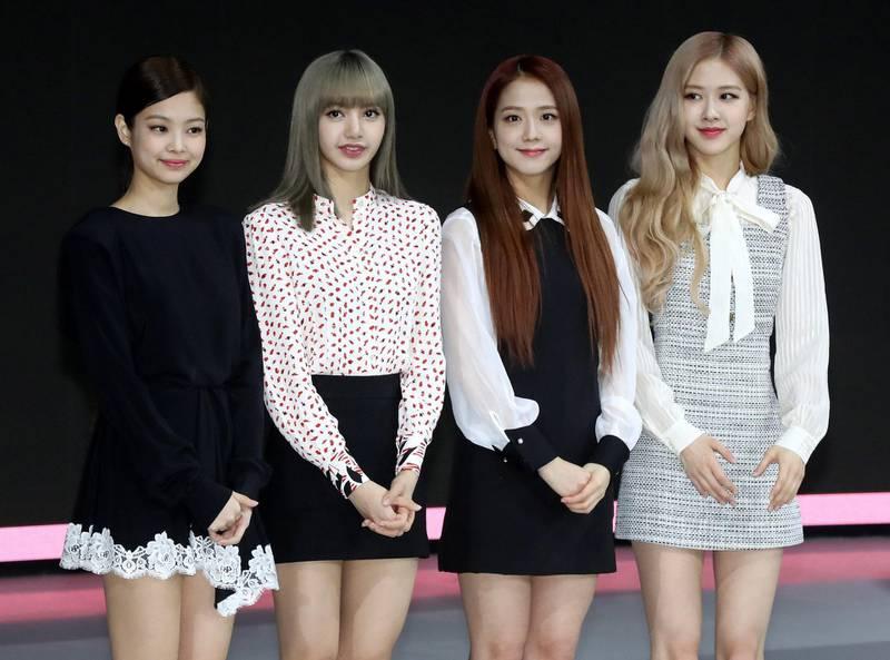 South Korean girl group BLACK PINK attends 2019 Seoul Motor Show, held at KINTEX in Goyang, Korea on March 28, 2019. StarNews / Reuters