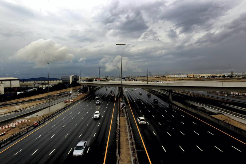Dubai, October,20,  2019: General view of Sheikh Zayed Road  in Dubai . Satish Kumar/ For the National