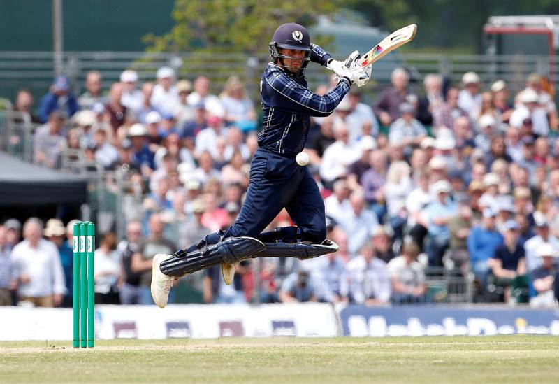 Cricket - Scotland v England - One Day International - Grange Cricket Club, Edinburgh, Britain - June 10, 2018   Scotland's Calum MacLeod in action    Action Images via Reuters/Craig Brough     TPX IMAGES OF THE DAY