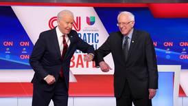 Biden and Sanders debate against backdrop of global pandemic