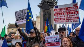 Poles protest against risk of 'Polexit' from EU