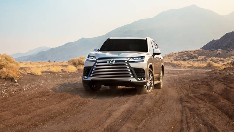 An image that illustrates this article Lexus unveils 2022 version of flagship LX