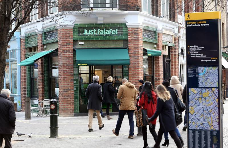 LONDON. 8th January 2013. The new Just Falafel shop in Covent Garden,  London, Tuesday, 8th January 2013. Stephen Lock for The National
