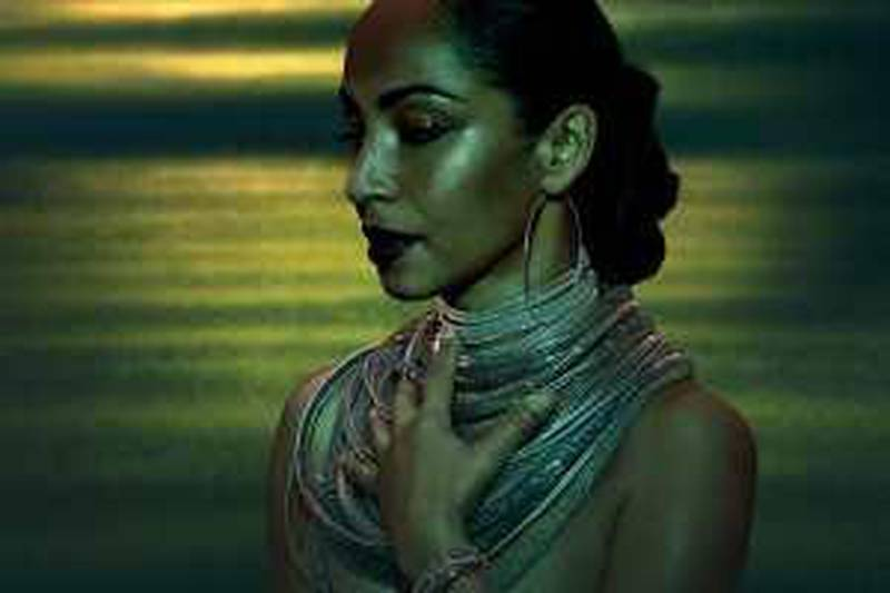 Portrait of singer Sade.  Courtesy of Sony Musci Entertainment