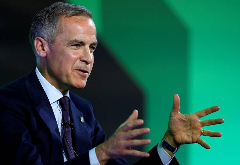 FILE PHOTO: Mark Carney, Governor of Bank of England  addresses the Northern Powerhouse Business Summit Boiler Shop in Newcastle, Britain, July 5, 2018. REUTERS/Phil Noble/File Photo