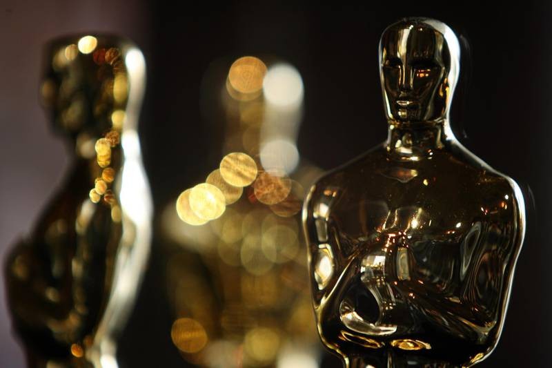 """(FILES) In this file photo taken on February 21, 2008 Oscar statuettes are displayed at the """"Meet The Oscars"""" exhibit before the 80th annual Academy Awards in Hollywood, California. The Oscars will again go without a host next month, repeating a format credited with boosting ratings last year, US network ABC confirmed on January 8, 2020. """"Together with the Academy, we have decided there will be no traditional host, repeating for us what worked last year,"""" ABC entertainment president Karey Burke told a television summit near Los Angeles, according to showbiz website Deadline Hollywood. / AFP / Gabriel BOUYS"""