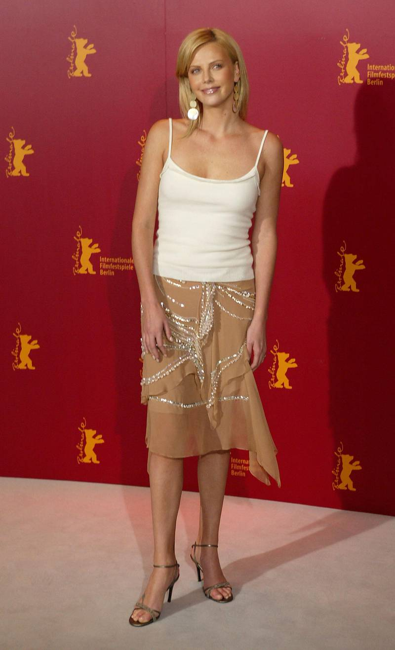 BERLIN - FEBRUARY 8: Actress Charlize Theron attends a photocall at the 54th annual Berlinale International Film Festival February 8, 2004 in Berlin, Germany.  (Photo by Sean Gallup/Getty Images)