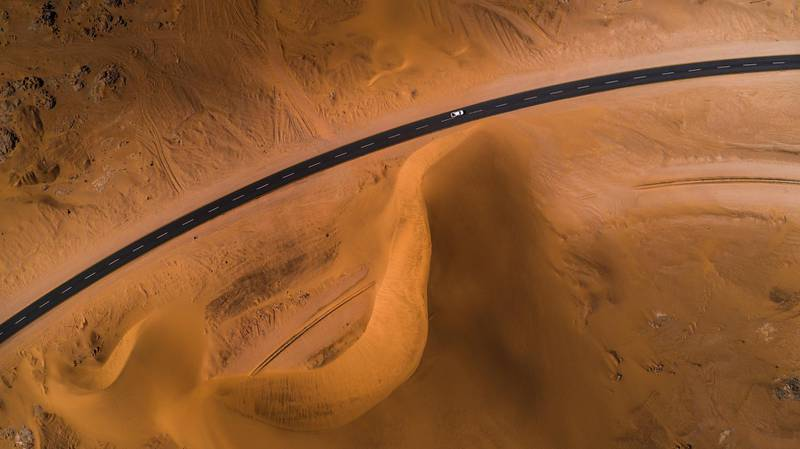 High Angle View Of Desert in Namibia. Getty Images