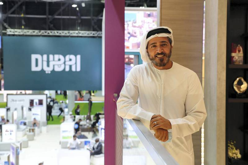 Issam Kazim, DTCM chief at the Arabian Travel Market held at Dubai World Trade Centre in Dubai on May 16,2021. Pawan Singh / The National. Story by Deena