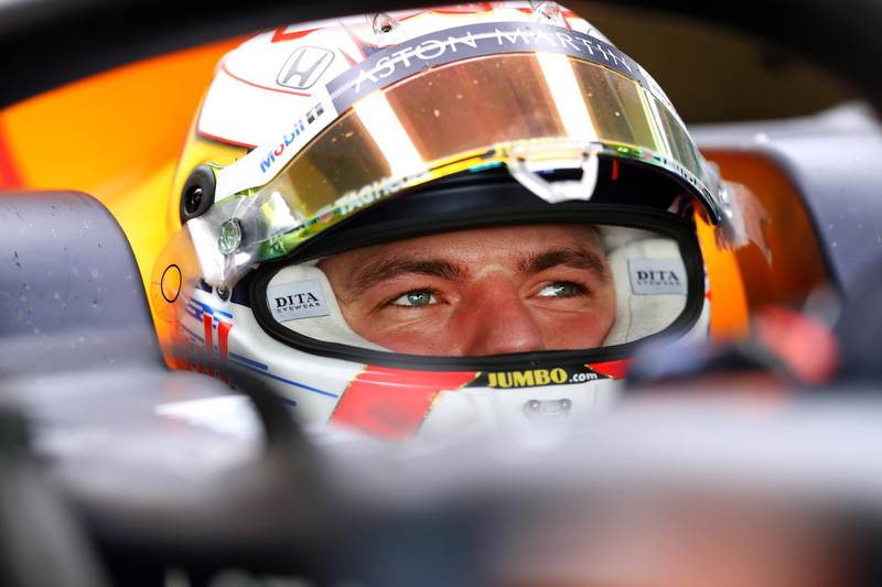ABU DHABI, UNITED ARAB EMIRATES - DECEMBER 03: Max Verstappen of Netherlands and Red Bull Racing is seen in the garage during day one of F1 End of Season Testing in Abu Dhabi at Yas Marina Circuit on December 03, 2019 in Abu Dhabi, United Arab Emirates. (Photo by Francois Nel/Getty Images)