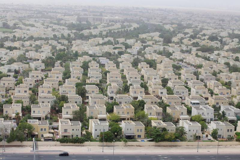 DUBAI, UAE. July 3, 2014 -Stock photograph of villas in Emirates Hills in Dubai,  July 3, 2014. (Photos by: Sarah Dea/The National, Story by: STANDALONE STOCK, Business)