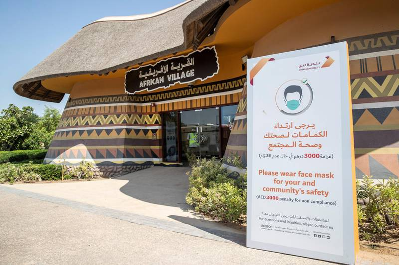 DUBAI, UNITED ARAB EMIRATES. 07 OCTOBER 2020. Dubai Safari Park re-opens it's doors to the public again after being closed for the past two years. (Photo: Antonie Robertson/The National) Journalist: Nick Webster. Section: National.