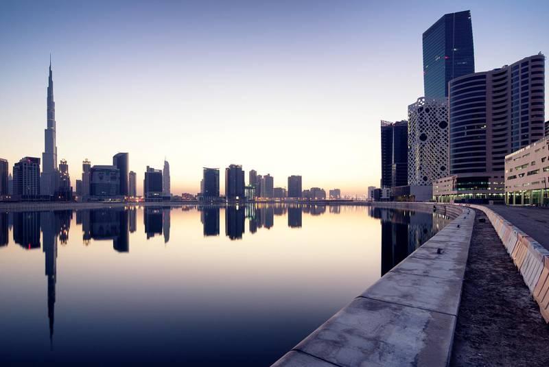 Dubai cityscape with mirror
