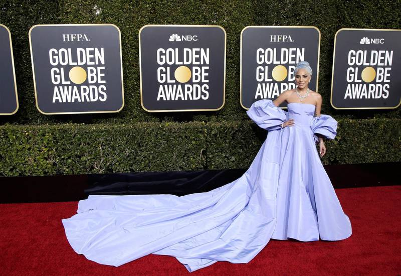 epa07267017 Lady Gaga arrives for the 76th annual Golden Globe Awards ceremony at the Beverly Hilton Hotel, in Beverly Hills, California, USA, 06 January 2019.