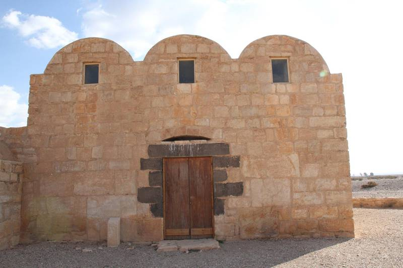 The entrance to Quseir Amra. Amy McConaghy / The National