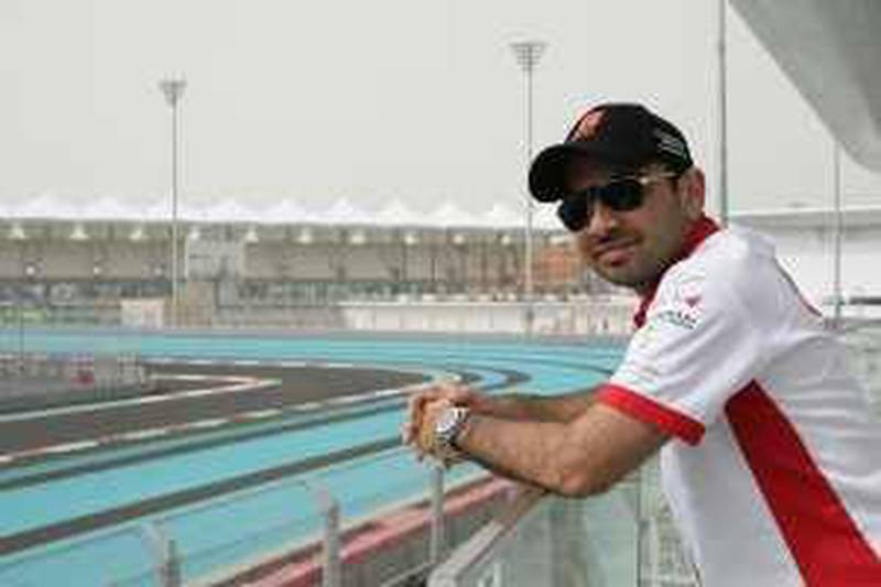 Abu Dhabi, 5th March 2010.  Saif Al Assad who owns a racing team, at the Yas Hotel.  (Jeffrey E Biteng / The National)  Editor's Note;  Saif could not stand the daylight brightness.  He is always squinting every time I take the shot.
