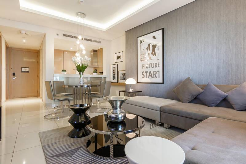 This 1-bedroom apartment in Paramount Tower in Business Bay is ready for occupancy and the developer can provide a post-handover payment plan. Courtesy Luxhabitat Sotheby's International Realty