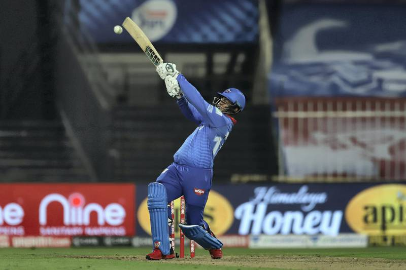 Shimron Hetmyer of Delhi Capitals bats during match 23 of season 13 of the Dream 11 Indian Premier League (IPL) between the Rajasthan Royals and the Delhi Capitals held at the Sharjah Cricket Stadium, Sharjah in the United Arab Emirates on the 9th October 2020.  Photo by: Deepak Malik  / Sportzpics for BCCI