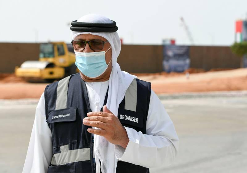 Abu Dhabi, United Arab Emirates - Saeed Al Mansoori, Executive Director of Capital Events at Abu Dhabi National Exhibition Centre ensures the safety of the public during IDEX 2021 taking place next week. Khushnum Bhandari for The National