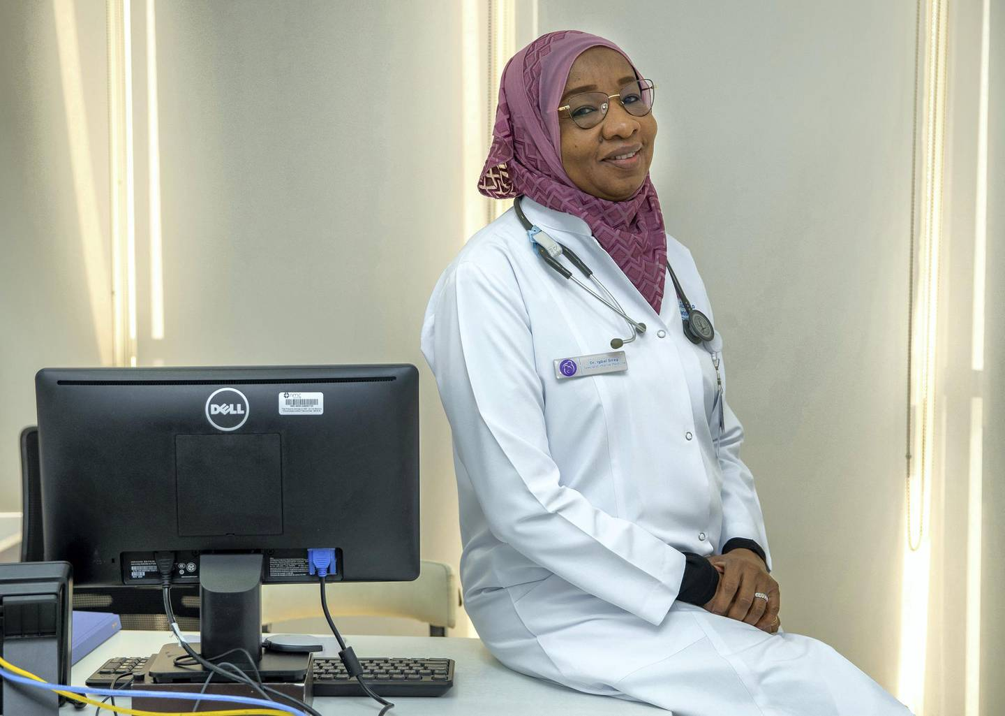 Abu Dhabi, United Arab Emirates, March 23, 2021.  ICU doctors give their view on what lessons have ben learned and what has changed one year on from Covid. SUBJECT NAME:  Dr. Igbal Mubarak SiragVictor Besa/The NationalSection:  NAReporter:  Nick Webster